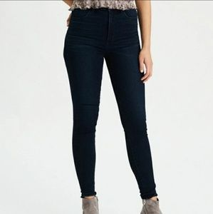 AE High Waisted Dark Wash Skinny Jeans